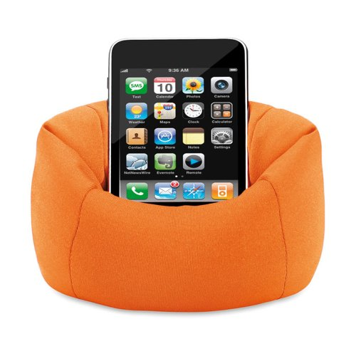 eBuyGB Sitzsack Sofa Pouch Fall für iPhone/iPod/Samsung Smartphone-Orange Form Ipod