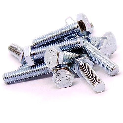 tornillo 50 unidades M6 6 x 60 mm A2 acero inoxidable roscados perno hexagonal