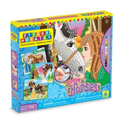 Orb Factory 620886 - Sticky Mosaics I Love Horses (Für Spielzeug 5-jährige Mädchen)