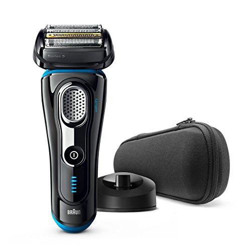 Braun Series 9 9240s - Afeitadora eléctrica de lámina para hombre, en húmedo y seco, recortadora de precisión extraíble, recargable e inalámbrica, máquina de afeitar con base cargadora, azul y negro