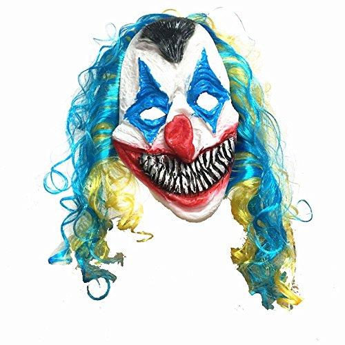 51zmt Halloween Halloween Funny Clown Grimace Latex Maske spookier Masquerade (Halloween Masken Benutzerdefinierte)