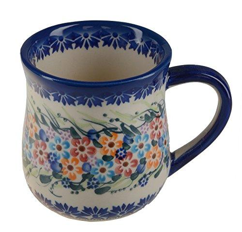 Classic Boleslawiec, Polish Pottery Hand Painted Ceramic Mug 350ml 053-u-008