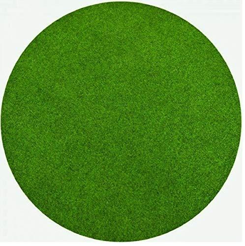 havatex Rasenteppich Kunstrasen mit Noppen Grün 1.150 g/m² rund - schadstoffgeprüft pflegeleicht wasserdurchlässig wetterfest | Balkon Terrasse Camping, Farbe:Grün, Größe:400 cm rund