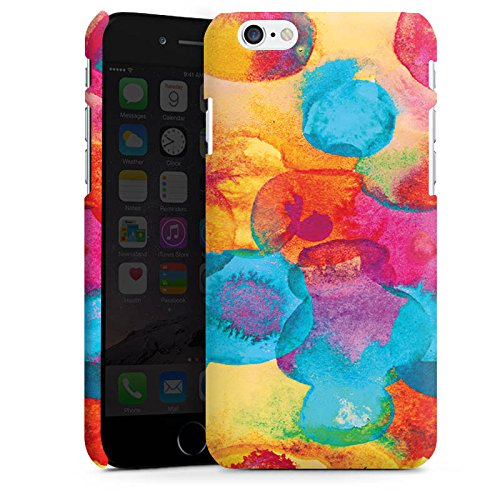 Apple iPhone X Silikon Hülle Case Schutzhülle Wasserfarbe Blumen Muster Premium Case matt
