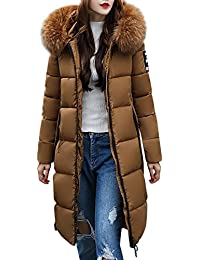 FNKDOR Women s Down Coat with Fur Hood Thicker Winter Slim Down Lammy Jacket  Long Parka Puffer 9b6c7bb134