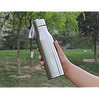 Bluelover 304 Double-Layer in acciaio inox tazza personalizzata 805 creativo all'aperto e tazza di corsa con la cordicella Sport bottiglia della boccetta di vuoto di caffè della tazza -Acciaio acciaio-720ml + Accessori per Chitarra