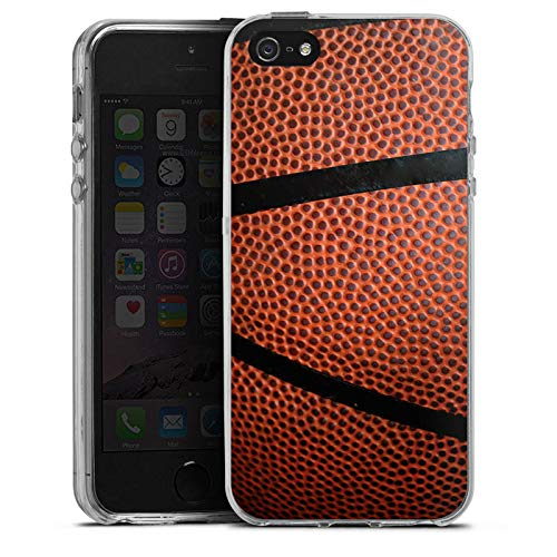 DeinDesign Silikon Hülle kompatibel mit Apple iPhone SE Case Schutzhülle Basketball Sport Ball Apple-ball