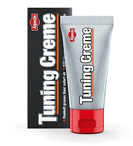 Alpecin Tuning Creme, 1 x 50 ml - Die schwarze Haar-Creme, dunkelt graues Haar sofort ab (Shampoo Creme)
