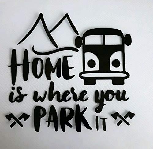 myrockshirt Home is Where You Park it Berge Camping ca 20 cm Aufkleber,Sticker,Decal,Autoaufkleber,UV&Waschanlagenfest,Profi-Qualität