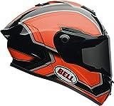 Bell - Casco da strada 2017,casco per adulti Star, nero e arancione, taglia 2XS