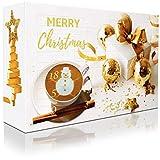 """C&T XXL Adventskalender mit hochwertigem Kaffee""""Klassik II"""" (Gold, Gemahlen) 2018-24 Päcken à 35 g Kaffee aus Aller Welt - Weihnachts-Kalender mit kostenloser Infobroschüre"""
