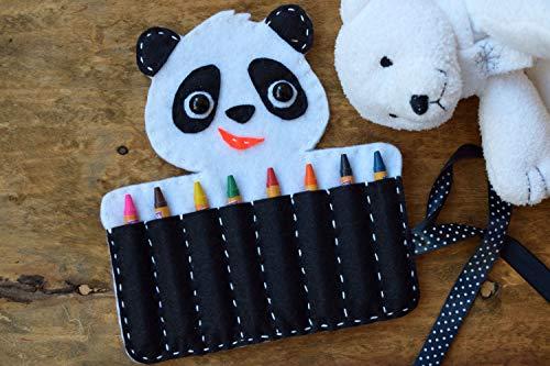 Panda Kreide Halter Filz Tier Katzenbär Organizer Veranstalter (Für Kleinkinder Kreide-halter)