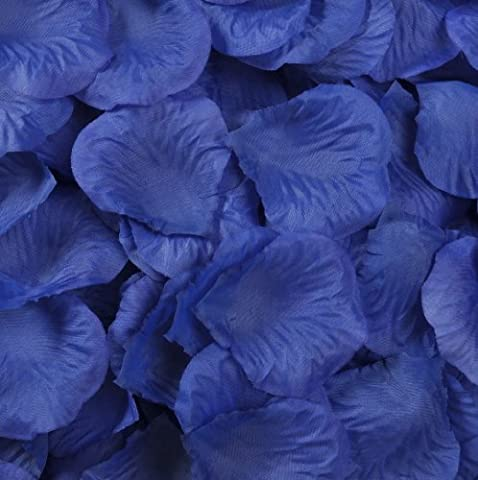 Best Quality ROYAL BLUE 1000 pcs Silk Rose Petals Wedding Party Decorations Flower Favors (royal blue) by Wedding Decoration Rose Petals