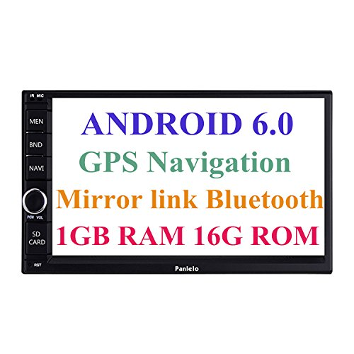 Panlelo Android 6.0 Head Unit Autoradio GPS Navigationsgerät 7 Zoll Auto Radio Touchscreen Bluetooth WIFI Mirror Link SWC Lenkradsteuerung Quad Core 1GB RAM 16GB ROM AM/FM/RDS H264 Dash Cam