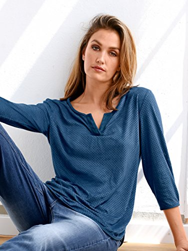 Damen Shirt aus Velourslederimitat by AMY VERMONT Blau