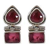 #3: Silverwala 925 Sterling Silver Ruby Stone Stud Earring for Women and Girls Ruby Silver Stud Earring