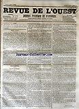 Telecharger Livres REVUE DE L OUEST No 95 du 09 08 1855 JOURNAL POLITIQUE ET D ANNONCES (PDF,EPUB,MOBI) gratuits en Francaise