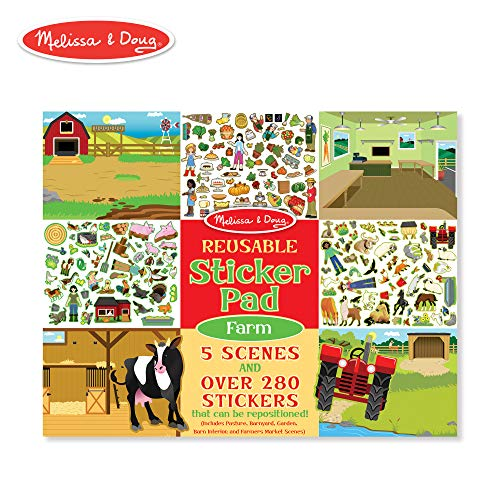 Melissa & Doug  Reusable Sticker Activity Pad - Farm Toy