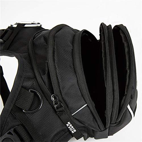 ZMEETY Motorrad Drop Bein Tasche Wasserdicht Nylon Motorrad Tasche Outdoor-Freizeittaschen Geeignet Für Radfahren Reisen - Schulter Ausgestattet Drop