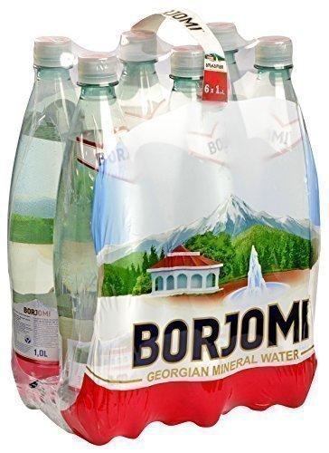 Mineral Kohlensäurehaltige Wasser Borjomi Glitzernd Wasser in kunststoff 1, 0l Flasche [6 stück packung]