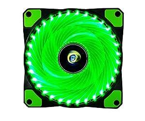 CONISY 120 mm Ventola pc 120mm led di Raffreddamento fantastic Ventilatore Ultra silenzioso cuscinetto raffreddamento gaming 12v 3pin per computer case cooling fan (verde)