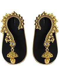 Sadnya Exclusive Gold Finish Brass Ear Cuffs Earrings For Women- DLEC05