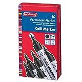 Herlitz 8860603 Colli Marker 1-4 mm schwarz 10 Stück wasserfest
