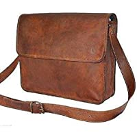 Genuine Leather 15 Inches Laptop Messenger Bag Briefcase Satchel for Men and Women by Jerry Leather