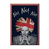 KiarenzaFD Cadre d'impression numerique Peinture sur Toile Parodie Margaret Thatcher Afro Politique Royaume-Uni Angleterre 70x50 cm
