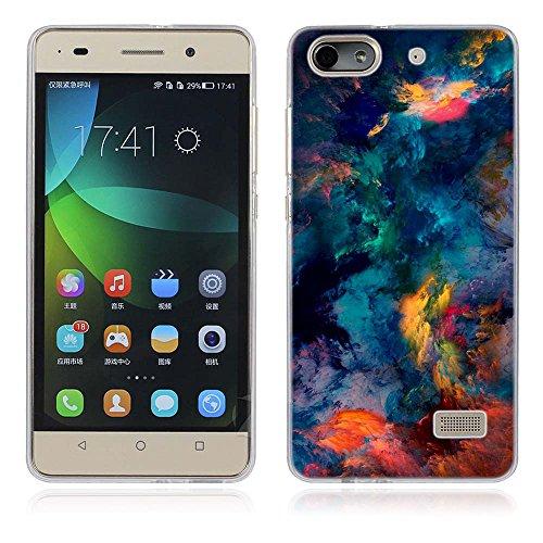 Huawei Honor 4C Hülle, Fubaoda Künstlerische - Serie TPU Case Schutzhülle Silikon Case für Huawei Honor 4C (G Play Mini)