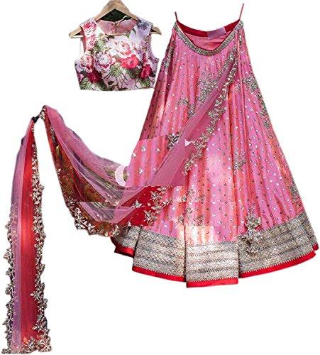 Avira Fashion women\'s pink free size lehenga cholis (Avira_pink_freesize)