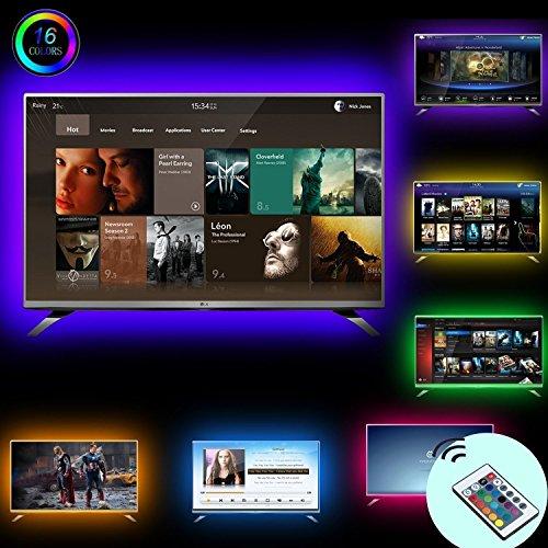 Simfonio lluminación De Retroiluminación LED TV 2M USB LED Tira De Luz Con Control Remoto Para 40 A 60 Pulgadas HDTV  Monitor De PC