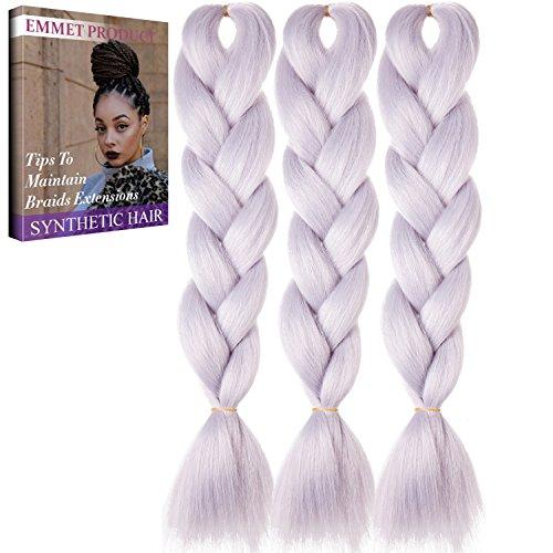 Jumbo Braids-Premium Qualität 100% Kanekalon Braiding Haarverlängerung Full Bundles 100g / pc Synthetik Haar Ombre 24Inch 3Pcs / lot Hitzebeständig, lange Zeit mit-37 Farben 2Tone & 3Tone, Garantie 1 Woche ändern oder Rückerstattung(Farbe 74)
