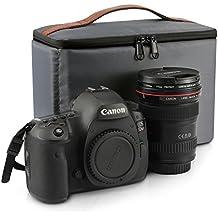 Kattee DSLR Insert Camera Case Inner Lens Bag Top Zipper Closure Waterproof Shockproof Travel Protective Bag