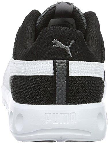 Puma Unisex-Kinder Carson Runner 400 Mesh Ps Low-Top Grau (steel gray-puma white 03)