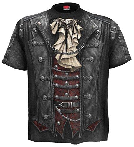 Dark Dreams Gothic Steampunk Metal Victorian viktorianisch Pirat Vampir T Shirt Hemd Weste Waistcoat Wacken M L XL XXL, Größe:XL (Victorian Vampira Kostüm)