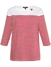 ULLA POPKEN Shirt mit Streifen Classic rot NEU