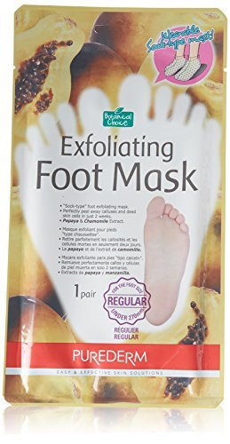 Purederm Exfoliating Foot Mask - Peels Away Calluses and Dead Skin in 2 Weeks! (3 Pack (3 Treatments), Regular) by Adwin Korea
