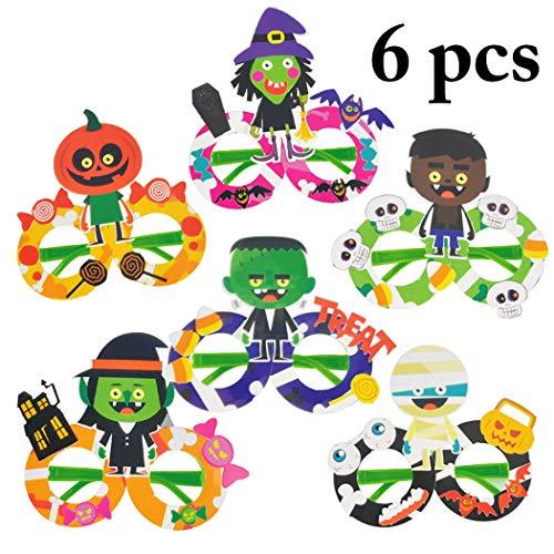FunPa 6 Paare Halloween Brille Party Gläser DIY Creative Lustige Gläser Party Gläser Kostüm Requisite Für Kind (Paare Halloween-kostüm Für Lustig)