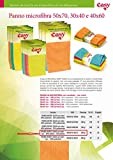 Panni in Microfibra, confezione da 24 pezzi - Lavabile in lavatrice - 30x40 cm - Colore Arancio, Verde e Giallo - Multifunzionali per la pulizia della Casa, Cucina, Ufficio, Auto.