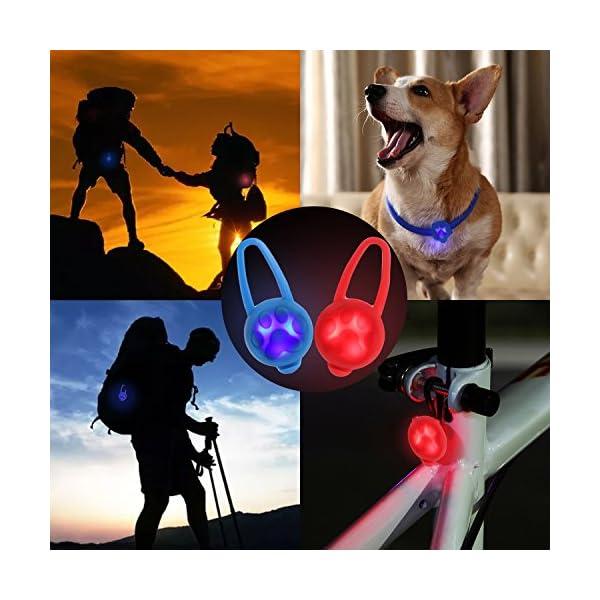 Top Munster Flashing SpotLit Cat / dog Collar Light,LED Pet Safety Light Luminous Pendant for Outdoor Safety (2 Pcs Red + Blue) 8