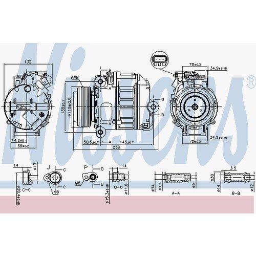 Nissens 890037Compressore per aria condizionata