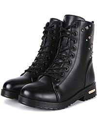 GFONE - Botas Militar mujer