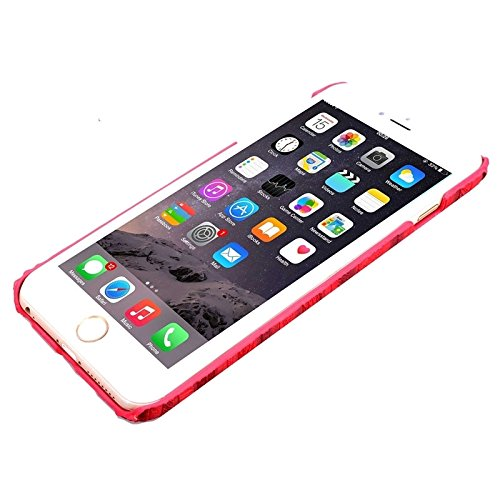 Phone case & Hülle Für IPhone 6 / 6S, Sandpainting Holz Korn Textur PU Fall ( Color : Red ) Red