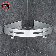 Ecooe Duschablage Ohne Bohren Duschstange Zum H/ängen aus Aluminium Badezimmer Duschregal zu installieren mit 4 Hook
