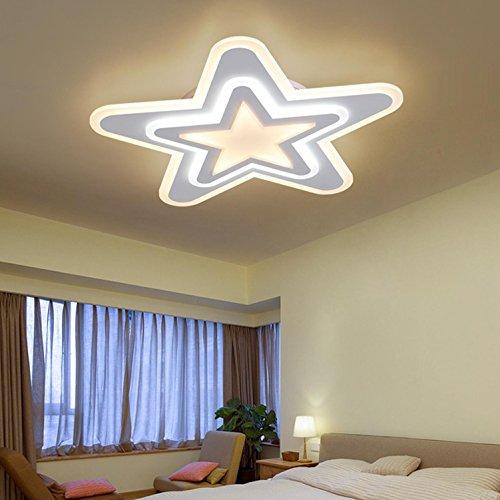 Murano-metall-kronleuchter (Led-deckenleuchte Schlafzimmer licht warme romantische ultradünne sterne licht moderne pentagramm kreative kinderzimmer deckenleuchte studie lampe durchmesser 36 cm)