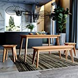 Krokwood Paris Massivholz Esstisch in Buche 75x50x75 cm FSC100% massiv Beistelltisch geölt Buchenholz Esszimmertisch Küche praktischer Küchentisch Holztisch vom Hersteller