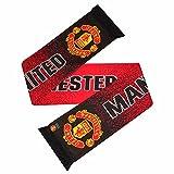 Manchester United FC Wappen Design Punktemuster Schal (Einheitsgröße) (Rot/Schwarz)