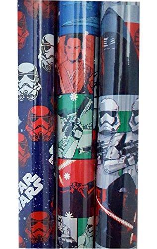 Star Wars Force weckt Geschenkpapier 3Rollen sortiert Storm Troopers, Kylo REN, mutli-character (Kostüm Jinn Qui Gon)