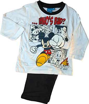 disney micky maus schlafanzug mickey mouse donald und kater karlo who is bad wei. Black Bedroom Furniture Sets. Home Design Ideas